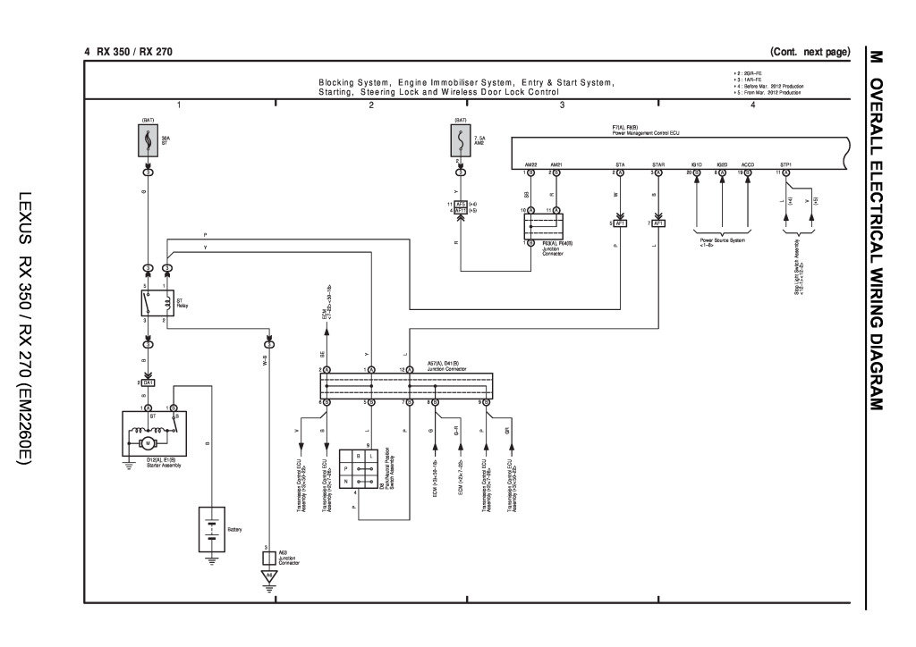 Lexus Rx 350 Rx 270 Wiring Diagrams Pdf  65 5 Kb